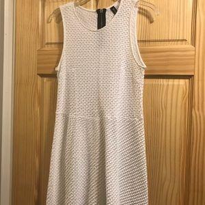Divided white mini dress-juniors